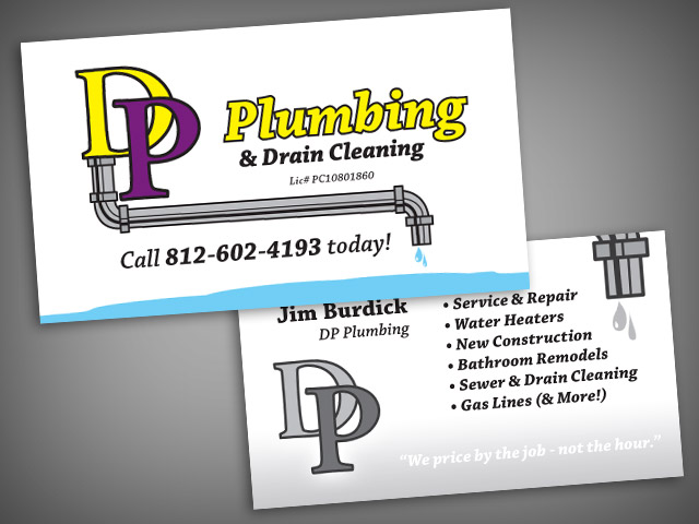 Fresh Gallery Of Plumbing Business Cards Design Ideas