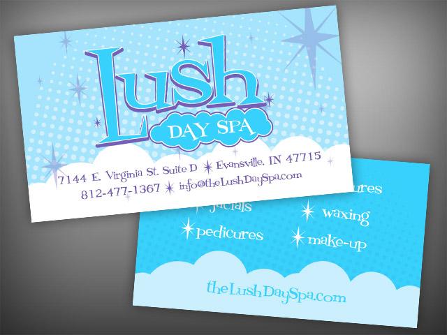 Lush day spa business cards visualrush colourmoves