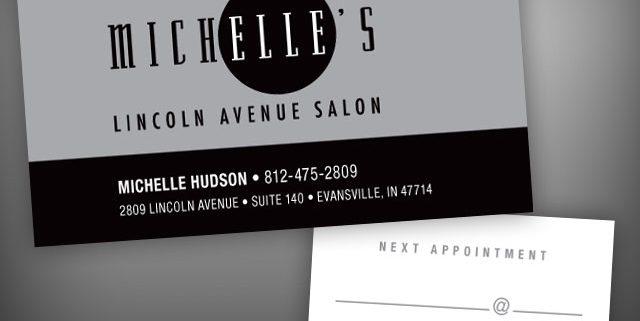 michelles salon business cards visualrush - Salon Business Cards