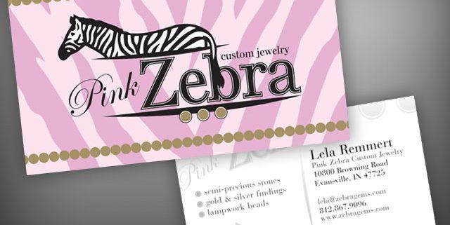Pink zebra business cards visualrush colourmoves