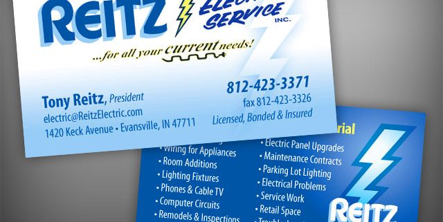 Reitz electric business cards visualrush colourmoves