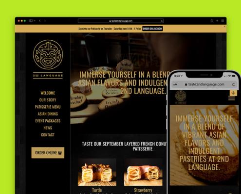 2nd Language Website Portfolio Image